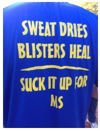 Sweat dries, blisters heal