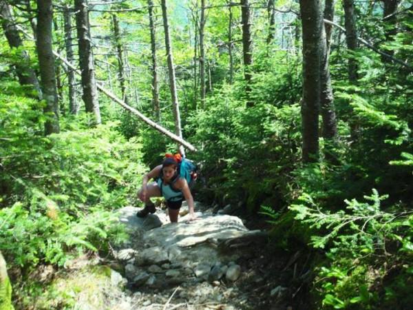Marisa climbing Mt. Monadock