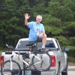 The stalwart Jim Moran, victorious over both heel and wheel. Photo courtesy Sara Wells.